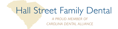 hall street family dental logo
